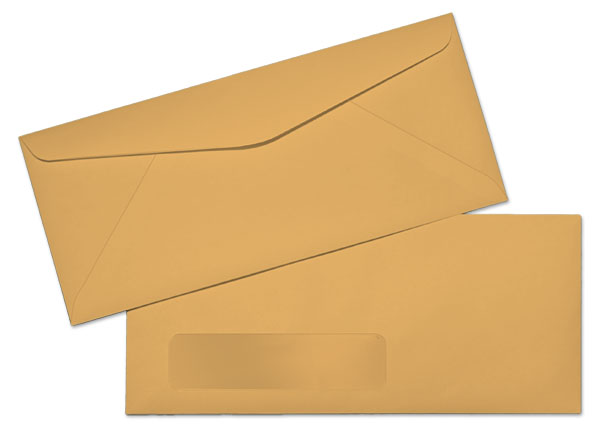 10 24lb brown kraft standard window commercial for 10 window envelope size