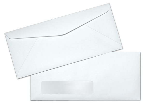 10 24lb white wove standard window commercial envelopes for 10 window envelope size