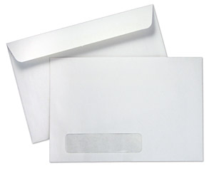 6 x 9 booklet 24lb white wove standard window booklet envelopes paoli envelope. Black Bedroom Furniture Sets. Home Design Ideas