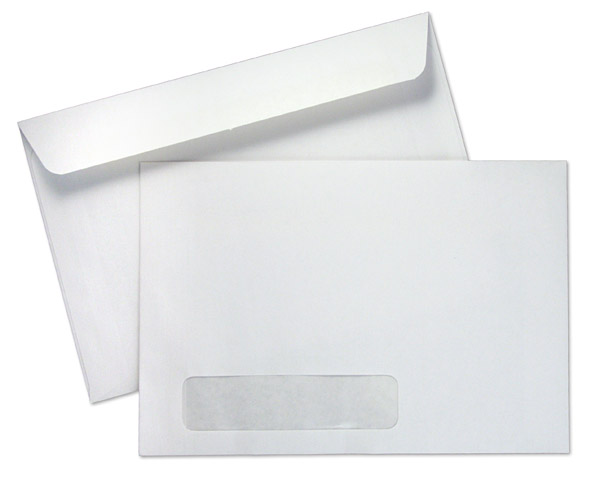 6 x 9 booklet 24lb white wove standard window booklet for Standard window envelope template